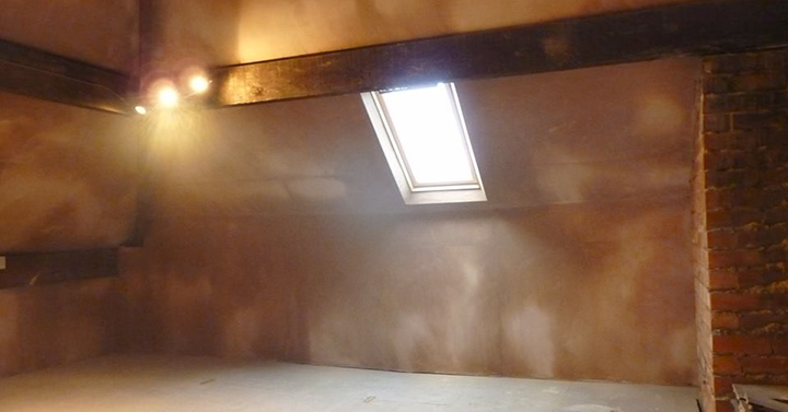 Velux window in loft